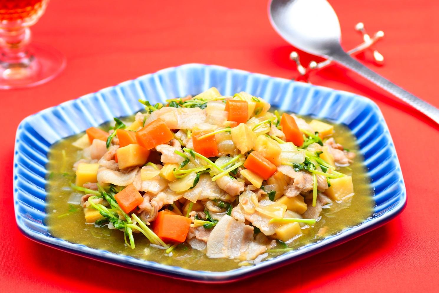 豚肉と枝豆の中華炒め