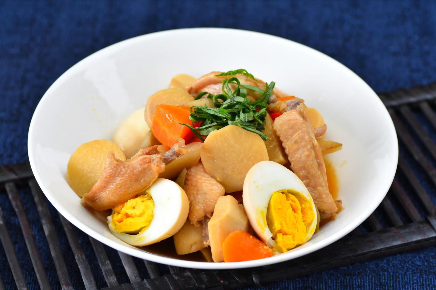 手羽中と根菜のお酢煮