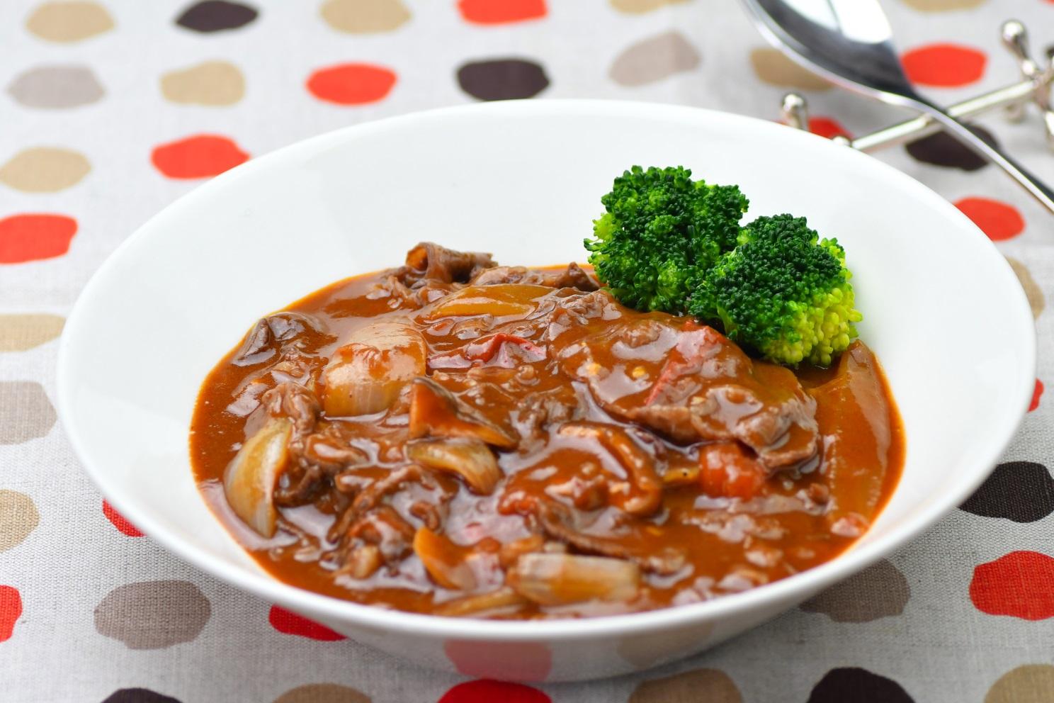 薄切り肉と冬野菜のビーフシチュー