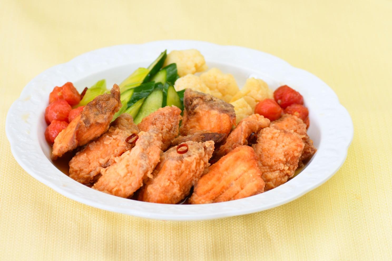 白身魚と旬野菜の南蛮漬け