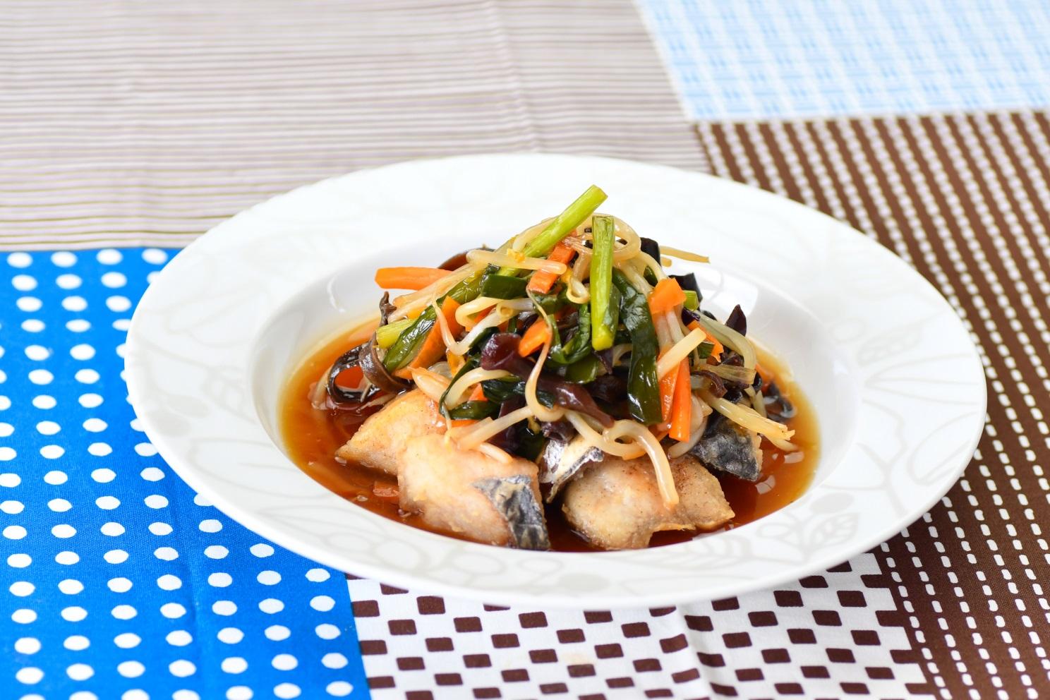 白身魚の彩野菜山椒あん