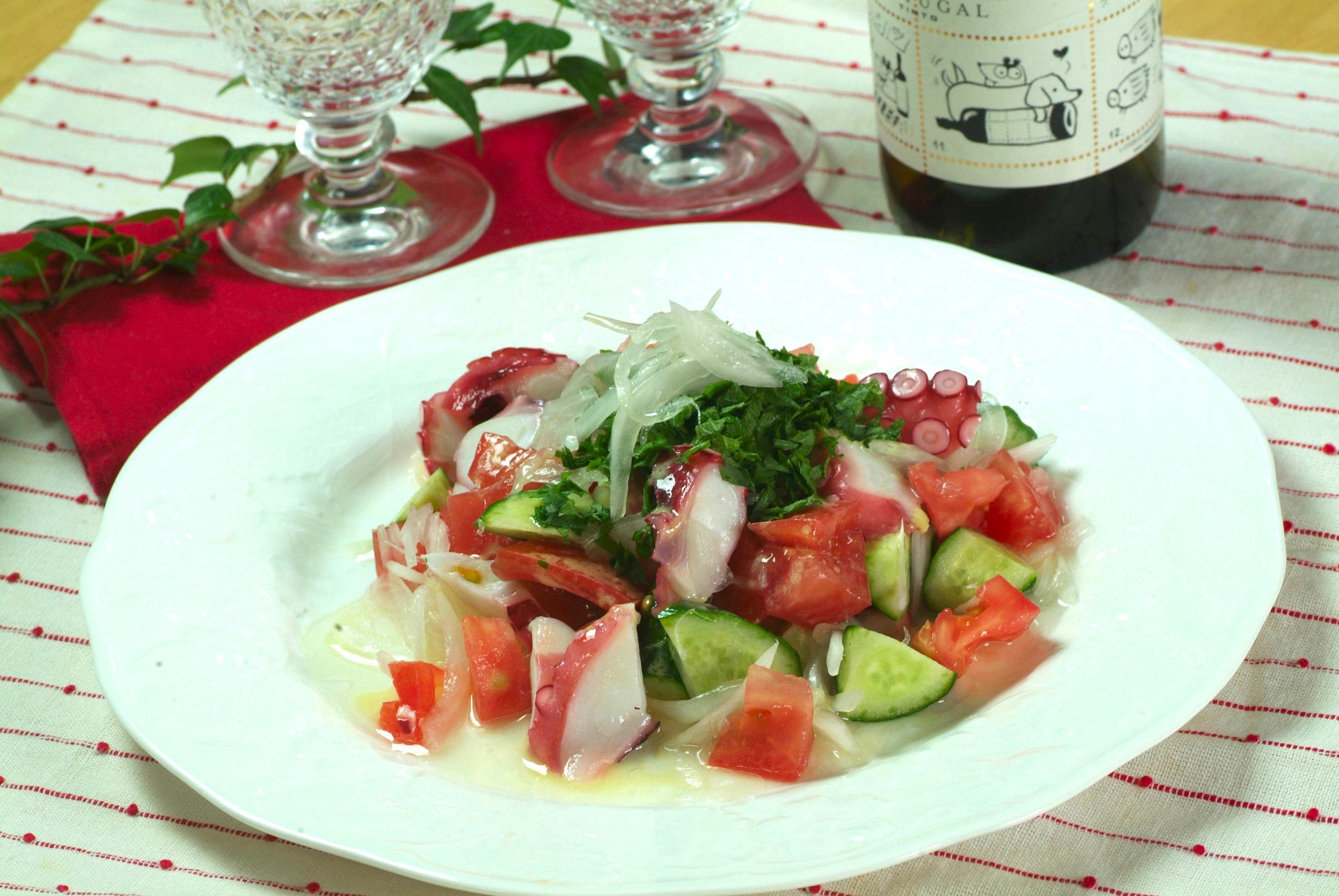 タコと夏野菜のサラダ